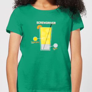 Infographic Screwdriver Women's T-Shirt - Kelly Green