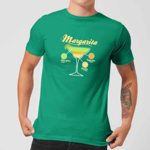 Infographic Margarita Men's T-Shirt - Kelly Green