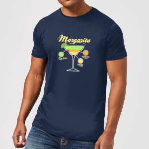 Infographic Margarita Men's T-Shirt - Navy