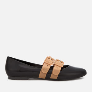 Vivienne Westwood for Melissa Women's Doll Double Strap Flats - Black Contrast