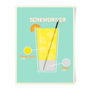 Screwdriver Art Print