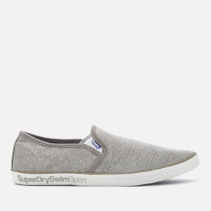 Superdry Men's Diver Slip On Pumps- Light Grey Marl