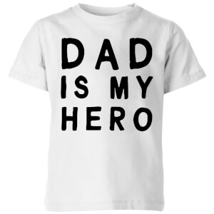 My Little Rascal Dad Is My Hero Kids' T-Shirt - White