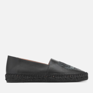 KENZO Women's Classic Leather Tiger Espadrilles - Black