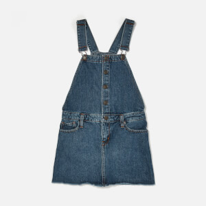 Tommy Hilfiger Girl's Dungaree Dress - Blue