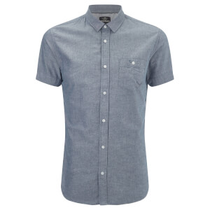 Threadbare Men's Alfa Short Sleeve Shirt - Navy