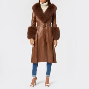 Saks Potts Women's Foxy Walnut Coat - Walnut