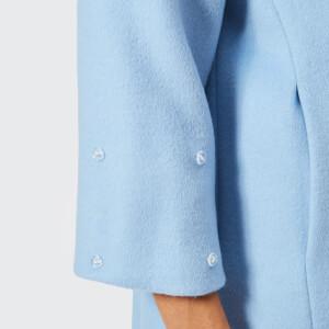 Saks Potts Women's Yvonne Sky Blue Coat - Blue: Image 6