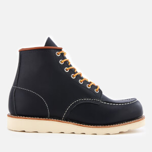 Red Wing Men's 6 Inch Moc Toe Leather Lace Up Boots - Navy Portage