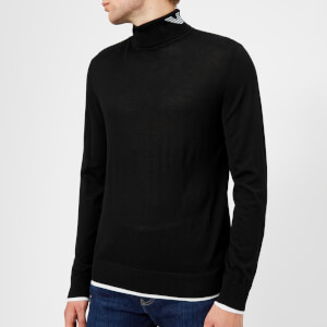 Emporio Armani Men's Roll Neck Knitted Jumper - Nero