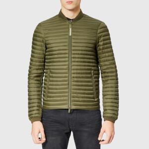 Emporio Armani Men's Bomber Collar Padded Jacket - Verde Militare