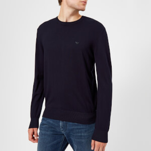 Emporio Armani Men's Crew Neck Knitted Jumper - Blue
