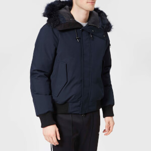 KENZO Men's Faux Fur Bomber Jacket - Navy Blue