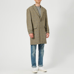 KENZO Men's One Button Long Coat - Pale Camel