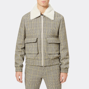 KENZO Men's Check Teddy Jacket - Pale Camel