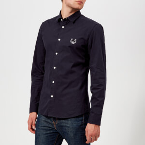 KENZO Men's Slim Fit Cotton Twill Shirt - Ink