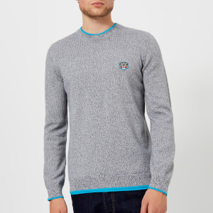 KENZO Men's Crew Knitted Basic Jumper - Dove Grey