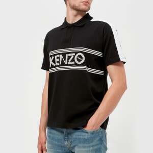 KENZO Men's Large Logo Short Sleeve Polo Shirt - Black