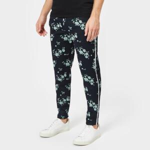 KENZO Men's Floral Pants - Navy Blue
