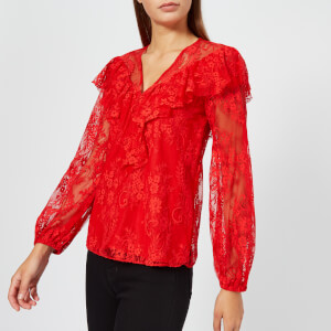 Three Floor Women's Ruby Red Top - Fiery Red