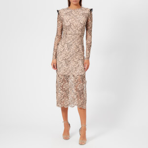 Preen By Thornton Bregazzi Women's French Corded Lace Cameron Dress - Nude