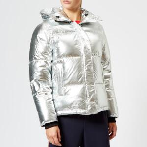 KENZO Women's Silver Down Jacket - Silver