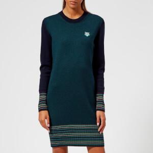 KENZO Women's Tiger Crest Wool Knit Dress - Navy