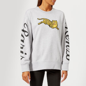 KENZO Women's Jumping Tiger Molleton Sweatshirt - Grey