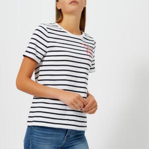 Tommy Hilfiger Women's Erin Round Neck T-Shirt - Navy/White stripe