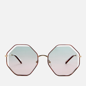 Chloé Women's Poppy Octagon Frame Sunglasses - Havana/Green Rose
