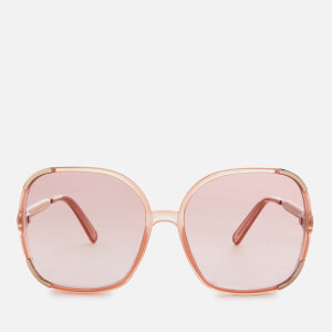 Chloe Women's Myrte Square-Frame Acetate Sunglasses - Peach