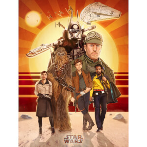 "Star Wars Solo ""Buckle Up"" Zavvi UK Exklusiver Druck Von Teddy Wright IV (46 x 61 CM)"