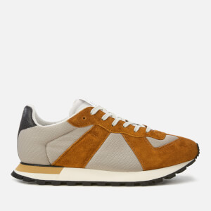 Maison Margiela Men's Mesh/Suede/Calfskin Replica Runner Trainers - Sand/Brown