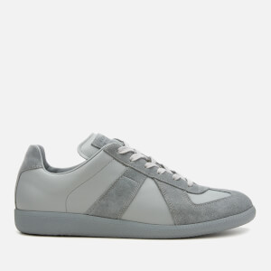 Maison Margiela Men's Replica Calfskin/Suede Low Top Trainers - Grafite