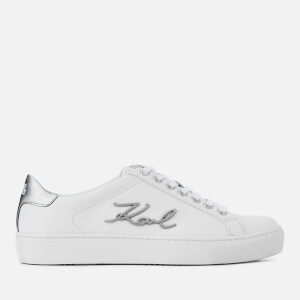 Karl Lagerfeld Women's Kupsole Signia Leather Low Top Trainers - White