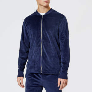 Polo Ralph Lauren Men's Velour Zip Hoody - Cruise Navy Label