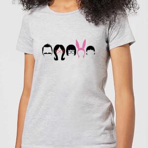 Camiseta Bob's Burgers Silueta Pelo - Mujer - Gris