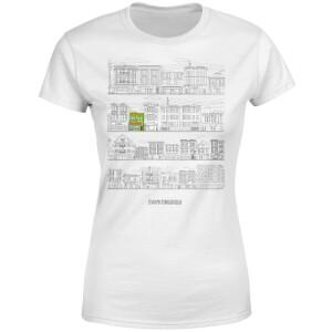 Bobs Burgers Street Plan Drawing Women's T-Shirt - White