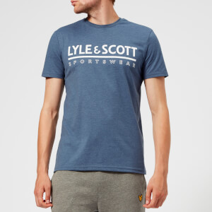 Lyle & Scott Sportswear Men's Harridge Short Sleeve Large Logo T-Shirt - Blue Steel Marl