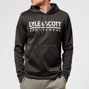 Lyle & Scott Sportswear Men's Cheviot Graphic Mid Layer Hoody - True Black Marl
