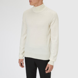 Maison Margiela Men's Gauge 14 Jersey Roll Neck Elbow Patches Decortique - Off White