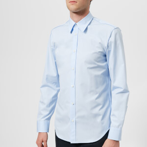 Maison Margiela Men's Cotton Popeline Slim Fit Seam Shirt - Ciel