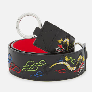 KENZO Women's Dragon Embroidered Bag Strap - Black