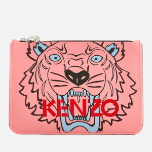 KENZO Women's Tiger A4 Pouch Bag - Faded Pink