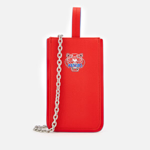 KENZO Women's Tiger Phone Case on Chain - Medium Red