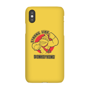 Funda móvil Nintendo Donkey Kong Strong Like Logo para iPhone y Android