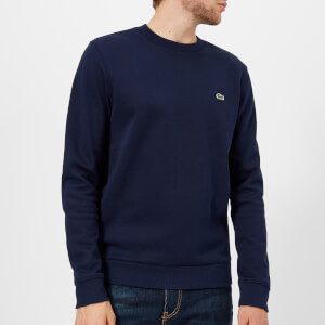 Lacoste Men's Basic Crew Neck Sweatshirt - Navy Blue/Baobab