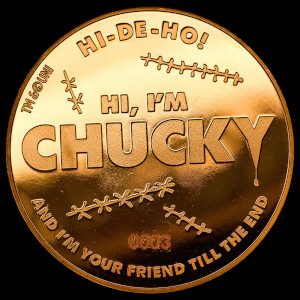 "Child's Play 2 ""Chucky"" Collectors Coin: Gold Variant - Zavvi Exclusive (Limited to 1000)"