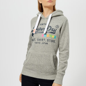 Superdry Women's Shirt Shop Rainbow Hoody - Rugged Grey