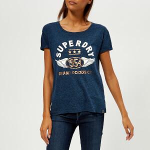 Superdry Women's 1954 Brand Goods Slim T-Shirt - Rugged Navy